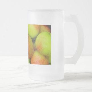 Bebedor de la sidra taza cristal mate