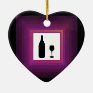 Bebida alcohólica adorno de cerámica en forma de corazón