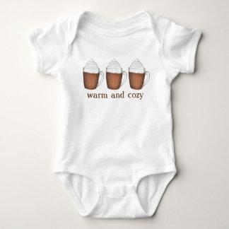 Bebida caliente del chocolate del cacao del día de body para bebé