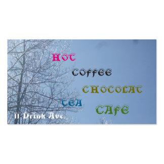 Bebida-Coffe-Té caliente Chocolat Tarjetas De Visita