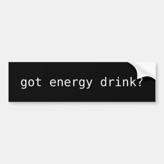 ¿bebida conseguida de la energía? pegatina para coche
