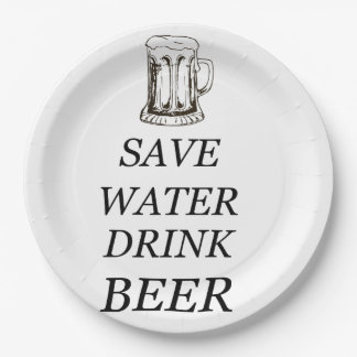 Bebida de la comida de la cerveza plato de papel
