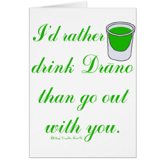 Bebida Drano Tarjeta De Felicitación