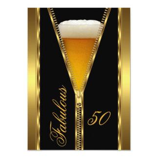 Bebida elegante de la cerveza del oro de la invitación 11,4 x 15,8 cm