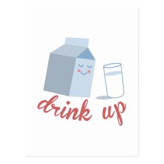 Bebida para arriba postal