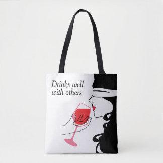 Bebidas bien con otras la bolsa de asas atractiva