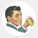 Bebidas de los cócteles del vintage, bebidas de co pegatinas