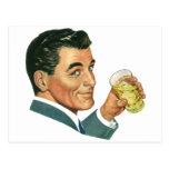 Bebidas de los cócteles del vintage, bebidas de co tarjeta postal
