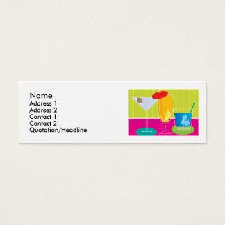Bebidas del fiesta tarjeta de visita pequeña
