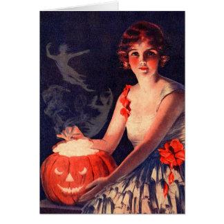 Bebidas espirituosas de conjuración Halloween del Tarjeta De Felicitación