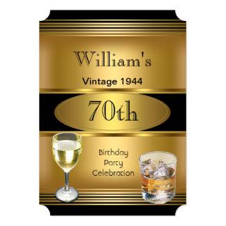 Bebidas para hombre del oro de la fiesta de invitación 12,7 x 17,8 cm