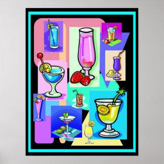 Bebidas retras impresiones