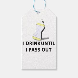 Bebo hasta que pase hacia fuera etiquetas para regalos