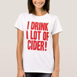 Bebo mucha sidra camiseta