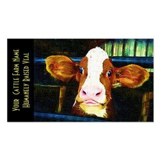 Becerro de ternera joven de Holstein Tarjetas De Visita