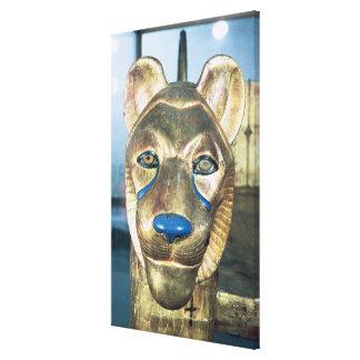Bedhead funerario bajo la forma de león impresión de lienzo