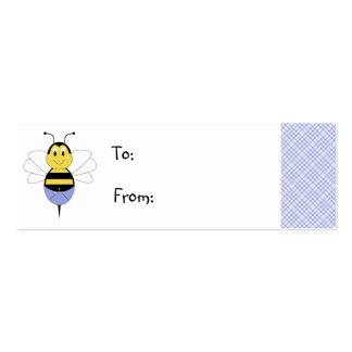 BeeBee manosea la etiqueta del regalo de la abeja Tarjetas De Visita