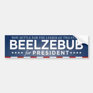 Beelzebub para el presidente pegatina para el