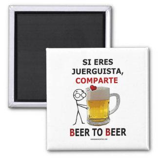 Beer2Beer Imán Cuadrado