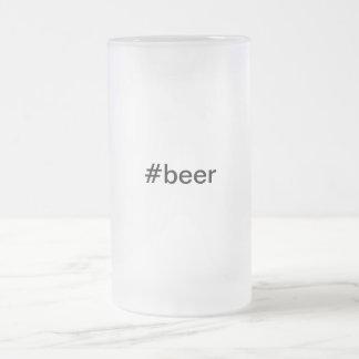 #beer: Taza de cerveza helada: