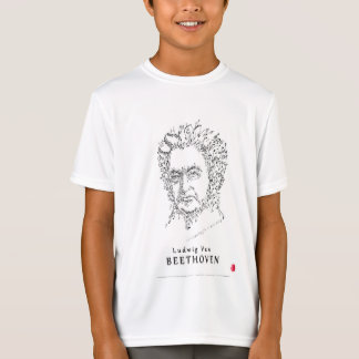 Beethoven hace frente a la música camiseta