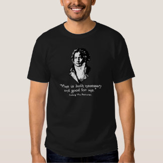 Beethoven - vino camiseta