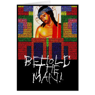 Behold al hombre tarjeta