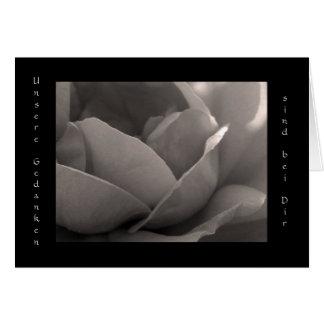Bei Dir del sind de Unsere Gedanken - Grusskarte Tarjeta De Felicitación