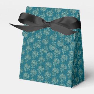 Beige floral de las minúsculas del estilo étnico caja para regalos