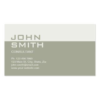 Beige llano simple elegante profesional del abogad tarjeta de visita