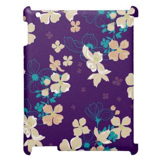 Beige y verde azulado florales