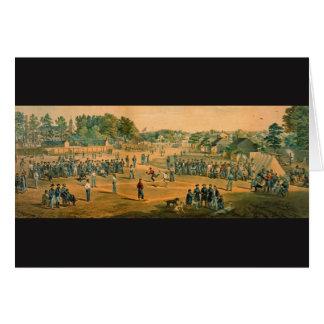 Béisbol 1863 de la guerra civil tarjeta de felicitación