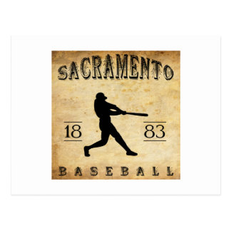 Béisbol 1883 de Sacramento California Tarjeta Postal