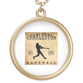 Béisbol 1886 de Charleston Carolina del Sur Pendiente Personalizado