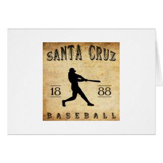 Béisbol 1888 de Santa Cruz California Tarjetón