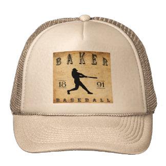 Béisbol 1891 de Oregon del panadero Gorros Bordados