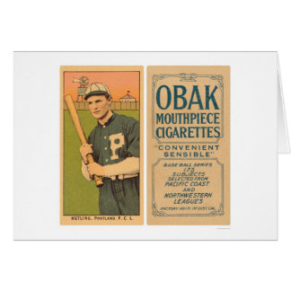Béisbol 1910 de Hetling Portland Tarjeta De Felicitación