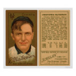 Béisbol 1911 de Christy Mathewson Posters