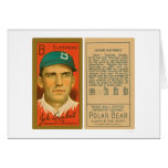 Béisbol 1911 de Jake Daubert Brooklyn Felicitacion