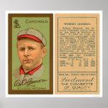 Béisbol 1911 de los cardenales de Bob Harmon Posters