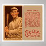 Béisbol 1912 de White Sox del tejedor del dólar Impresiones