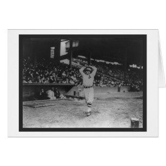 Béisbol 1914 del atletismo del tablón de la jarra tarjeta