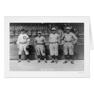 Béisbol 1920 del Triple Play Tarjeta