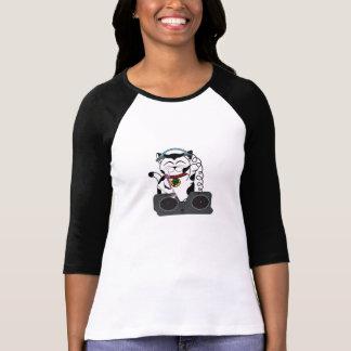 Béisbol afortunado T del gato de DJ Camisetas