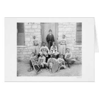 Béisbol afroamericano 1900 tarjeta de felicitación