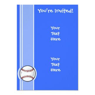 Béisbol; Azul Invitación 12,7 X 17,8 Cm