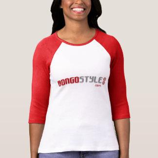 Béisbol clásico Longsleeve de las señoras del logo Camiseta