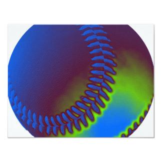Béisbol coloreado invitación 10,8 x 13,9 cm