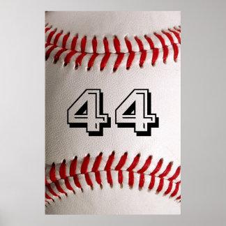 Béisbol con número adaptable póster