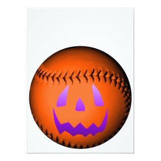 Béisbol de Halloween Invitación 13,9 X 19,0 Cm